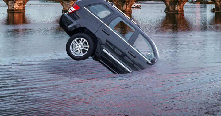 รถยนต์จมน้ำ