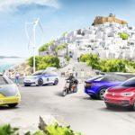 """""""โวลฟ์วาเกน"""" กับการเปลี่ยนเกาะในกรีซในเป็นเมืองรถไฟฟ้า"""